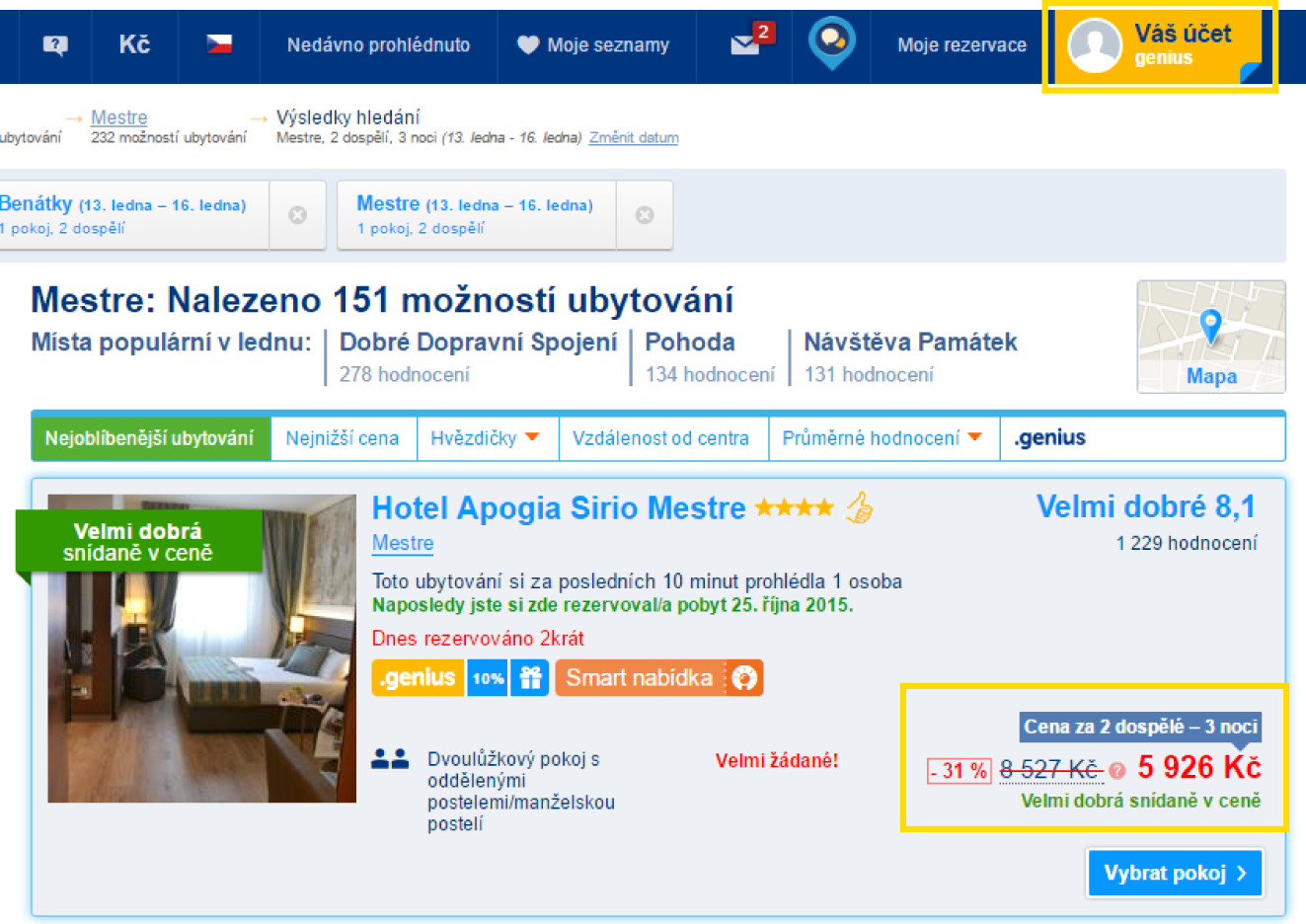 3 noci v hotelu Apogia Sirio Mestre po přihlášení – 5 926 Kč